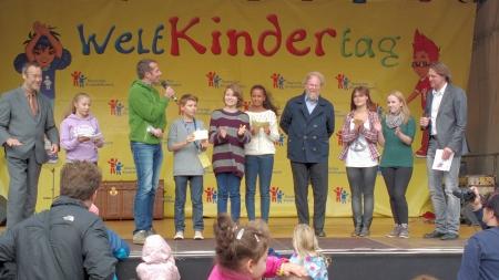 Weltkindertag 2013, Feier am Potsdamer Platz in Berlin, Foto: Andreas Schönefeld
