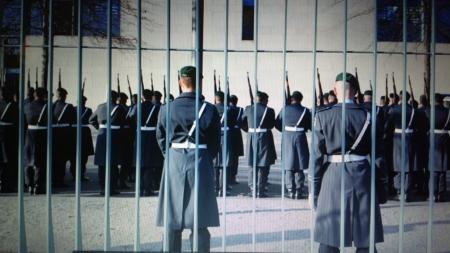 Ehrenformation der Bundeswehr. Tsipras kommt.
