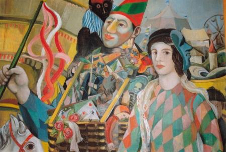 Detail aus dem Bild Jahrmarktsgruppe von Peter Weiss 1943, Foto: Andreas Schönefeld