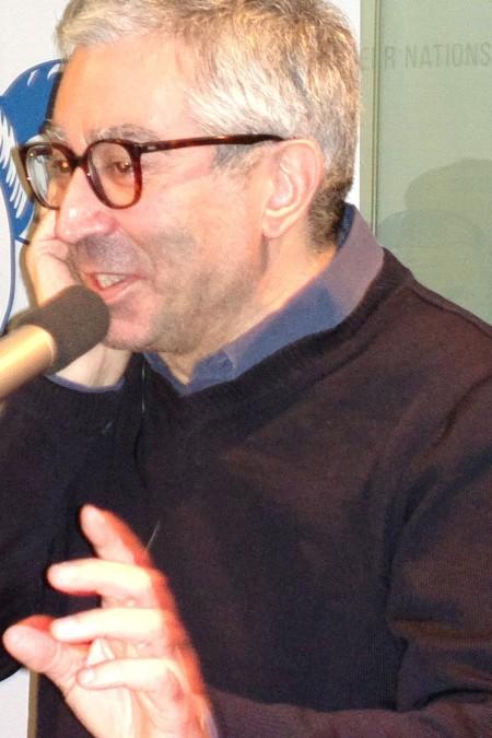 Didier Eribon, 28.11.16 in Berlin im taz-café, Foto: Andreas Schönefeld