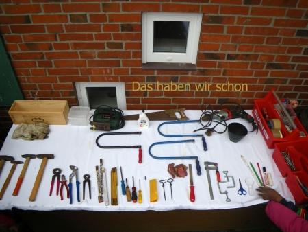 Das bisherige Werkzeug, Foto: Andreas Schönefeld